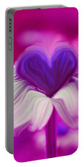 Portable Battery Charger featuring the photograph  Flower Heart by Linda Sannuti