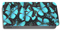 Green Swallowtail Butterfly Portable Battery Charger by Anastasy Yarmolovich