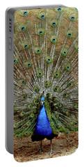 Portable Battery Charger featuring the photograph  Iridescent Blue-green Plumage by LeeAnn McLaneGoetz McLaneGoetzStudioLLCcom