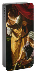 Judith And Maidservant With The Head Of Holofernes Portable Battery Charger