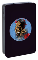 Portable Battery Charger featuring the painting  Louis. by Andrzej Szczerski