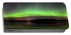 Portable Battery Charger featuring the photograph   Northern Lights by Macrae Images