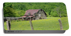 Portable Battery Charger featuring the photograph  Old Goshen Barn by Susan Leggett