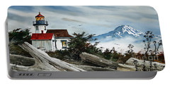 Point Robinson Lighthouse And Mt. Rainier Portable Battery Charger