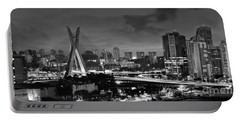 Sao Paulo Iconic Skyline - Cable-stayed Bridge - Ponte Estaiada Portable Battery Charger