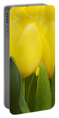 Spring Yellow Tulips Portable Battery Charger