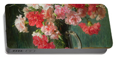 Still Life Of Carnations   Portable Battery Charger by Emile Vernon