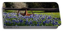 Texas Bluebonnets IIi Portable Battery Charger by Greg Reed
