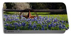 Texas Bluebonnets IIi Portable Battery Charger