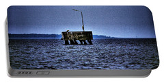 Portable Battery Charger featuring the photograph  The Dock Of Loneliness by Jouko Lehto