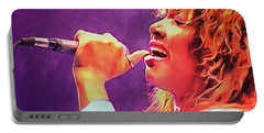 Tina Turner Portable Battery Charger by Sergey Lukashin
