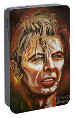 Portable Battery Charger featuring the painting  Tribute To David by Andrzej Szczerski