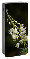 Portable Battery Charger featuring the photograph  White Fireweed by Jouko Lehto