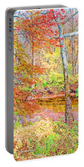 Woods In Autumn Montgomery Cty Pennsylvania Portable Battery Charger