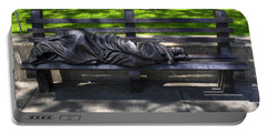 02 Homeless Jesus By Timothy P Schmalz Portable Battery Charger