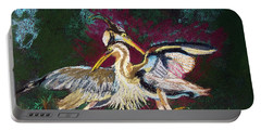 021916 Blue Heron's Dance Portable Battery Charger