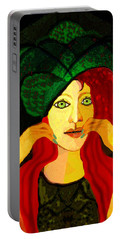 1903 - Sweet Girl With Ozean Colored  Eyes 2017 Portable Battery Charger