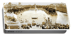 1904 World's Fair, Grand Basin View From Festival Hall Portable Battery Charger