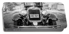 1929 Ford Model A Tudor Police Sedan Bw Portable Battery Charger