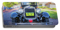 Portable Battery Charger featuring the photograph 1929 Ford Model A Tudor Police Sedan  by Rich Franco