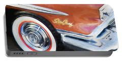 Portable Battery Charger featuring the photograph 1958 Pontiac Star Chief  by Rich Franco