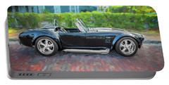 1965 Ford Ac Cobra Painted    Portable Battery Charger by Rich Franco