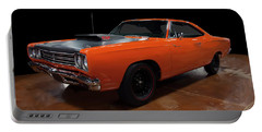 Portable Battery Charger featuring the photograph 1969 Plymouth Road Runner A12 by Chris Flees