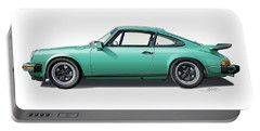 1976 Porsche Euro Carrera 2.7 Illustration Portable Battery Charger by Alain Jamar