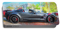 Portable Battery Charger featuring the photograph 2017 Chevrolet Corvette Gran Sport  by Rich Franco