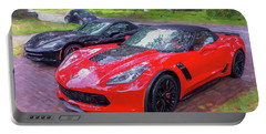 2017 Chevrolet Corvette Zo6 Painted  Portable Battery Charger