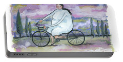 A Beautiful Day For A Ride Portable Battery Charger by Leanne WILKES