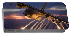 A C-130 Hercules Releases Flares Portable Battery Charger