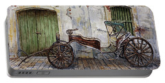 A Carriage On Crisologo Street 2 Portable Battery Charger by Joey Agbayani