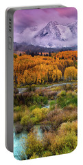 A Fall Snow At Sunrise Portable Battery Charger