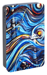 Portable Battery Charger featuring the painting A Ray Of Hope 4 by Harsh Malik