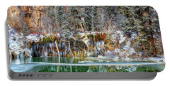 Olena Art Serene Chill Hanging Lake Photograph The Gem Of Glenwood Canyon Colorado Portable Battery Charger