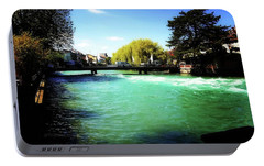 Portable Battery Charger featuring the photograph Aare River by Mimulux patricia no No