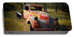 Abandoned Dodge Truck Portable Battery Charger by Frank Wilson
