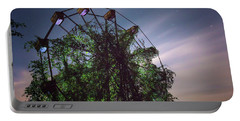 Portable Battery Charger featuring the photograph Abandoned Ferris Wheel by Travis Rogers