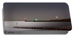 Aberdeen Beach At Night Portable Battery Charger