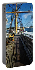 Portable Battery Charger featuring the photograph Aboard The Eagle by Karol Livote