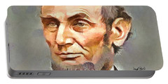 Abraham Lincoln Portable Battery Charger by Wayne Pascall