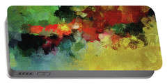 Portable Battery Charger featuring the painting Abstract And Minimalist  Landscape Painting by Ayse Deniz