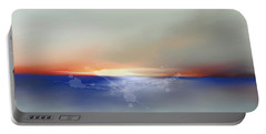 Abstract Beach Sunrise  Portable Battery Charger