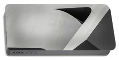Abstract In Black And White Portable Battery Charger