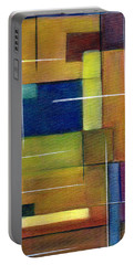 Portable Battery Charger featuring the painting Abstract Line Series by Patricia Cleasby