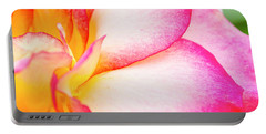 Abstract Rose Petals Portable Battery Charger by Teri Virbickis