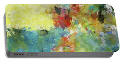 Portable Battery Charger featuring the painting Abstract Seascape Painting by Ayse Deniz
