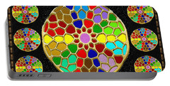 Acrylic Painted Round Colorful Jewel Patterns By Navinjoshi At Fineartamerica.com   Also Available O Portable Battery Charger