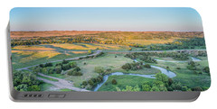 aerial view of Dismal River in Nebraska Portable Battery Charger